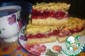 Рецепт: Тертый пирог с вишней