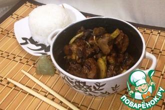 Рецепт: Куриная печень в азиатском стиле
