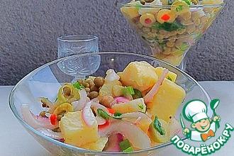 Рецепт: Картофельный салат Сытный