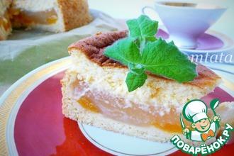 Рецепт: Абрикосовый пирог с пудингом