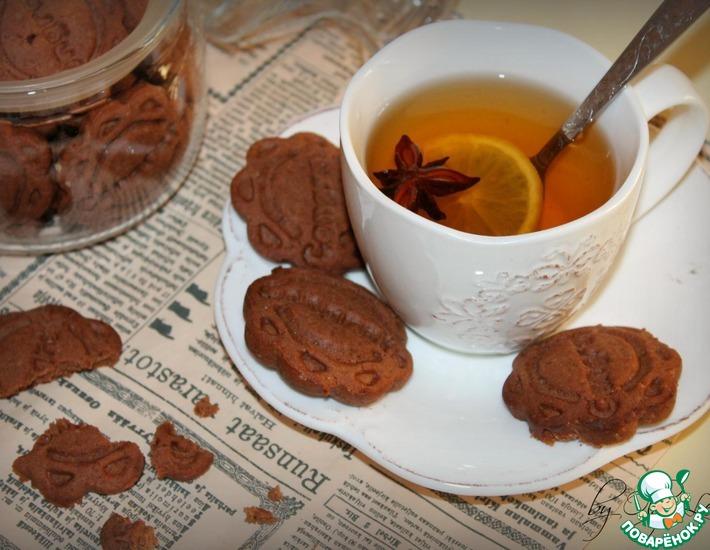 Рецепт: Пряники имбирно-шоколадные