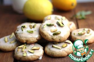 Рецепт: Лимонное печенье с фисташками