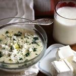 Молочный рисовый суп с брынзой
