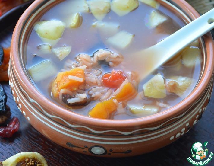 Рецепт: Суп с сухофруктами