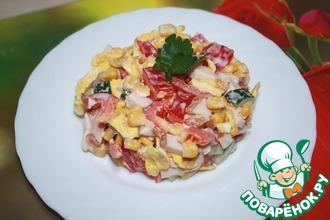 Рецепт: Легкий салат к 8 Марта