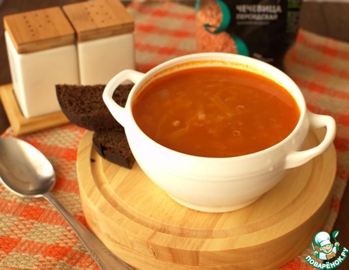 Рецепт: Суп из чечевицы с капустой