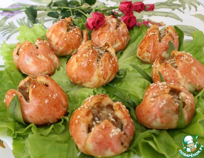Рецепт: Закуска Тюльпаны к празднику