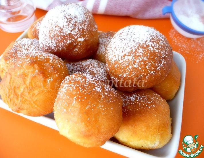Рецепт: Нежные пончики на твороге