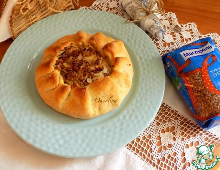 Рецепт: Постная галета с капустой и гречкой