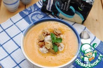 Рецепт: Суп-пюре с тыквой и фрикадельками