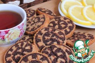 Рецепт: Постное печенье Улитки на яблочном соке