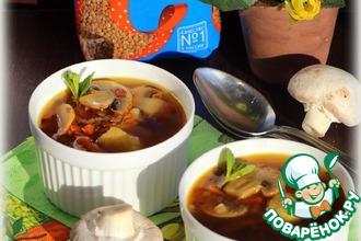 Рецепт: Гречневый суп с картофельными клецками