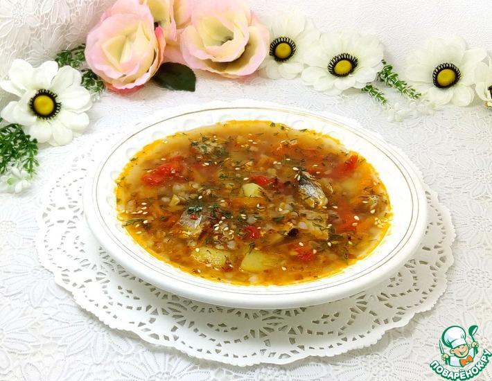 Рецепт: Гречневый рыбный суп с лечо