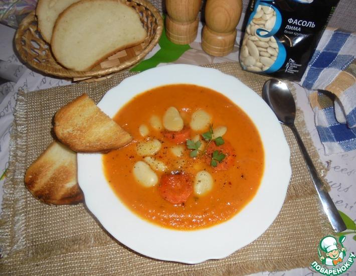 Рецепт: Морковный суп с белой фасолью
