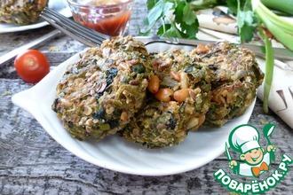 Рецепт: Овощные галеты Зеленый букет