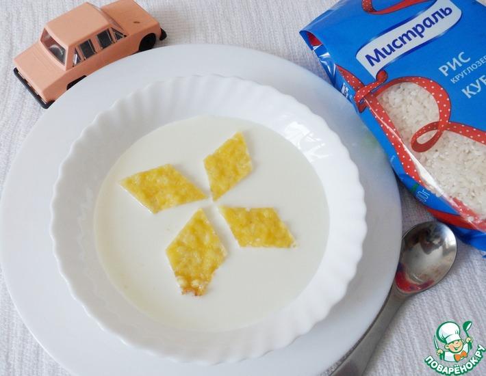 Рецепт: Молочный суп с запеченным рисом