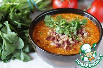 Рецепт: Суп с фасолью и орехами