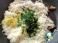 Рис с грибами и лимоном ингредиенты
