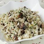 Рис с грибами и лимоном