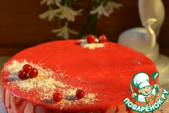 Рецепт: Торт Розовый фламинго