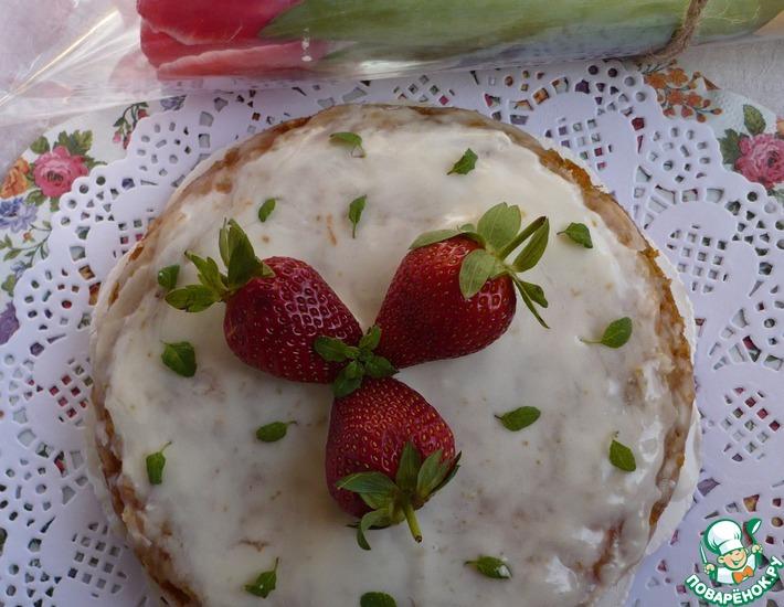 Рецепт: Морковно-овсяный торт без муки