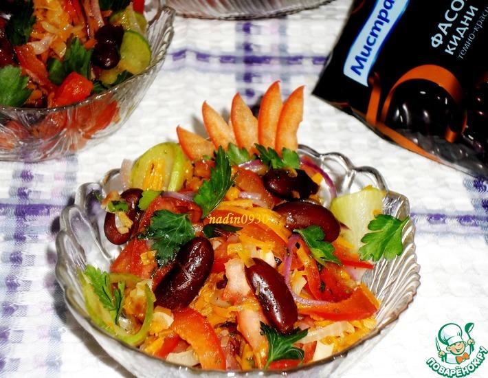 Рецепт: Салат постный яркий