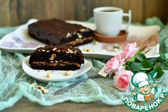 Рецепт: Постный торт «СуперСникерс»