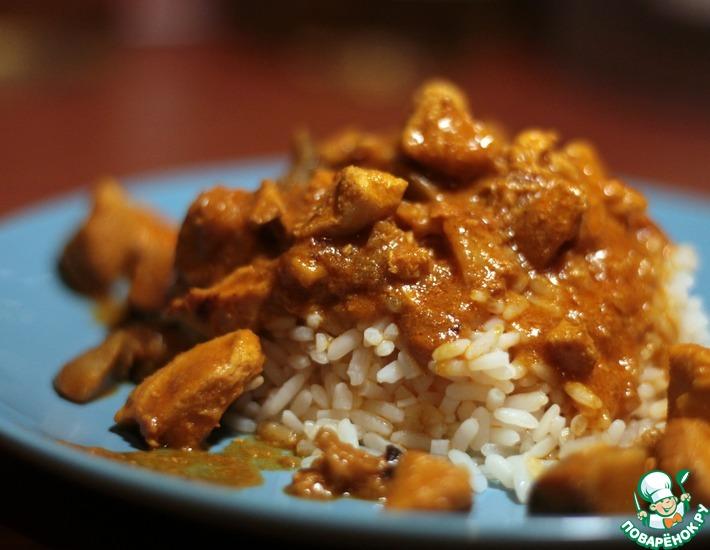 Рецепт: Курица карри с морепродуктами
