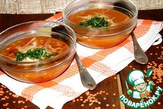Рецепт: Бразильский острый суп из чечевицы