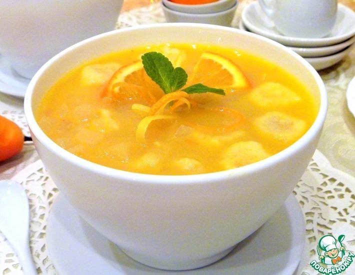 Рецепт: Десертный грушевый суп с клецками