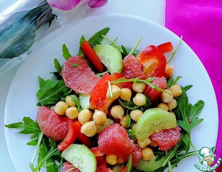 Рецепт: Салат с нутом и грейпфрутом