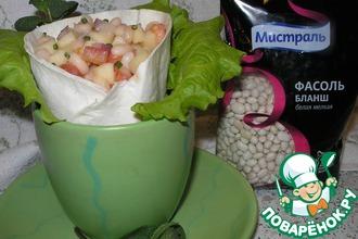 Рецепт: Пикантная закуска Фасоль в кустах