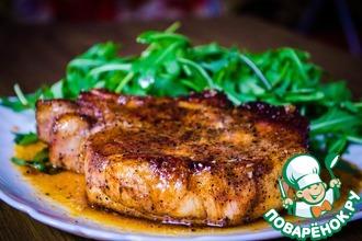 Рецепт: Глазированный стейк из свинины