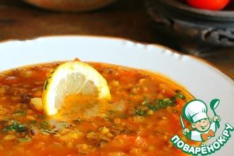 Рецепт: Постный томатный суп Восточный