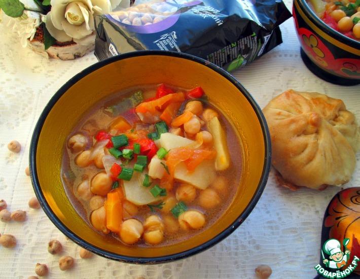 Рецепт: Суп из нута и овощей