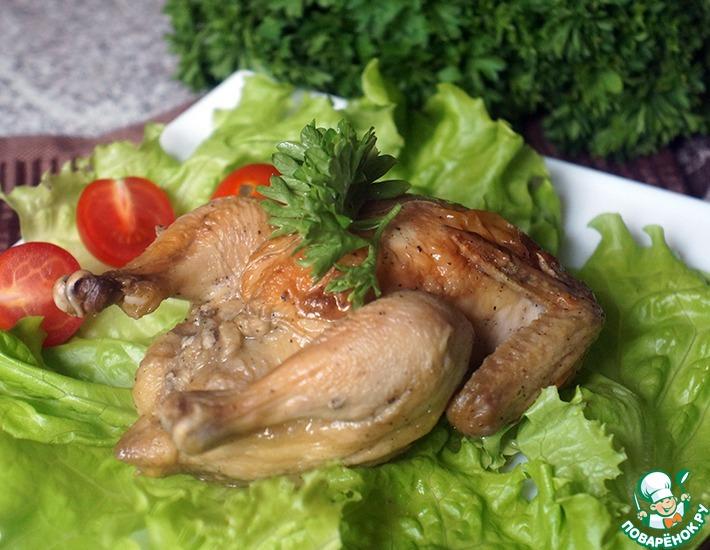 Рецепт: Цыплята-корнишоны в духовке