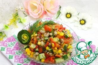 Рецепт: Фасолевый салат по-мексикански