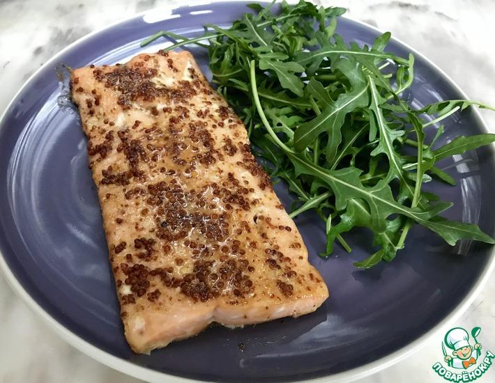 Рецепт: Филе семги с глазурью
