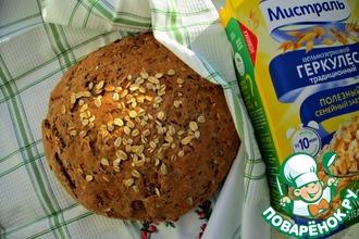 Рецепт: Зерновой хлеб из трех видов муки