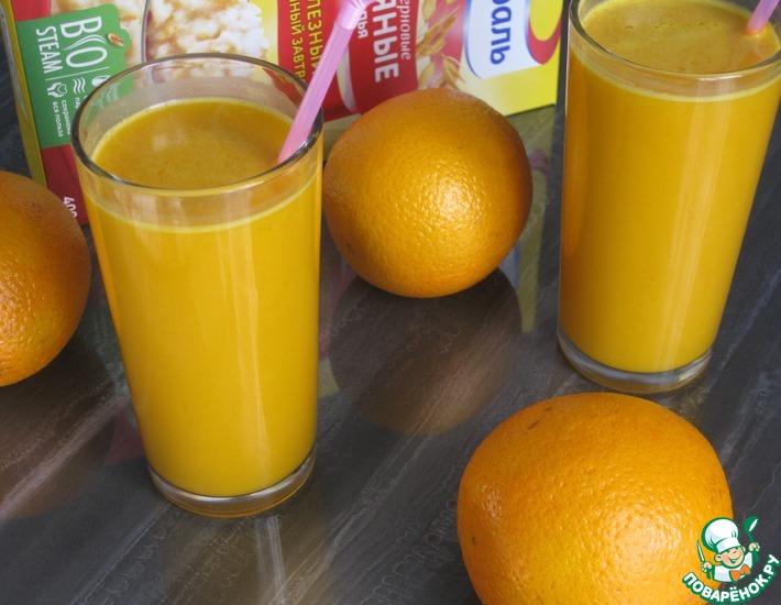 Рецепт: Кисель овсяный облепихово-апельсиновый