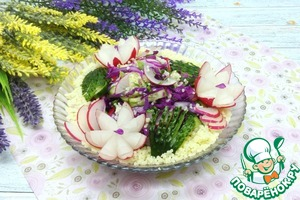 Рецепт: Весенний салат с кускусом
