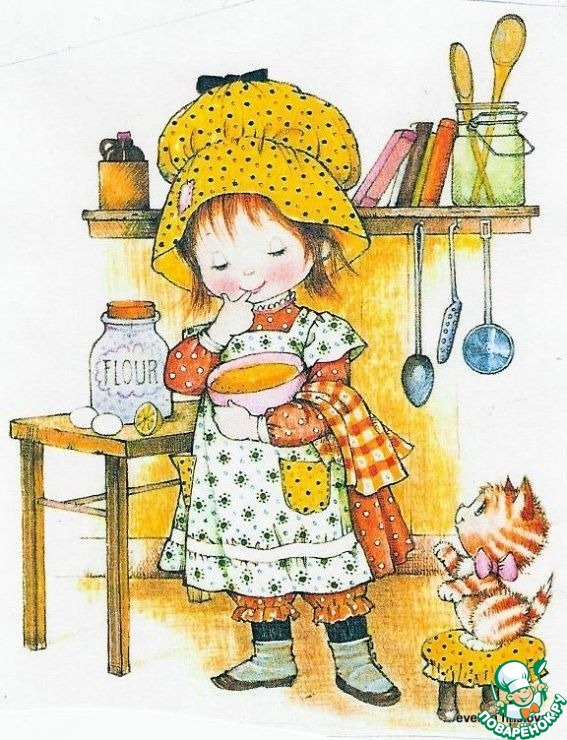 Рисунок поваренок девочка