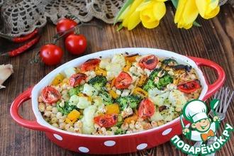 Рецепт: Запеченые овощи с фасолью