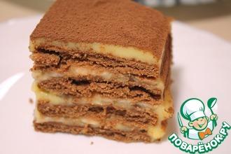 Рецепт: Торт без выпечки вкусно и быстро