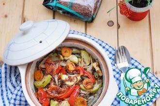 Рецепт: Маринованные овощи, запеченные с красным рисом