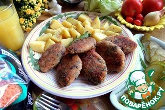 Рецепт: Чечевично-рисовые котлеты