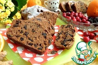 Рецепт: Постный кекс с черносливом