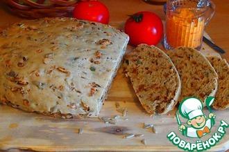 Рецепт: Луковый хлеб с семечками