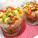 Кускус с овощами в воке