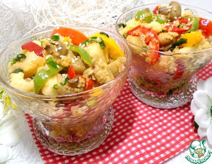 Рецепт: Кускус с овощами в воке